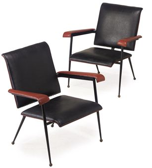 1950 Armchairs by Jacques Adnet at Christie's
