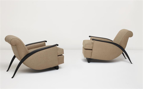 2 Gonse Armchairs model no. 278 NR by Emile-Jaques Ruhlmann
