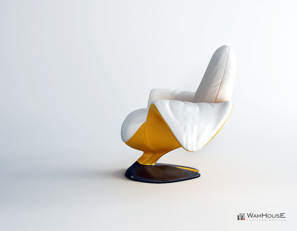 Zjedzony Banana Chair By Wamhouse Peeled And Eaten
