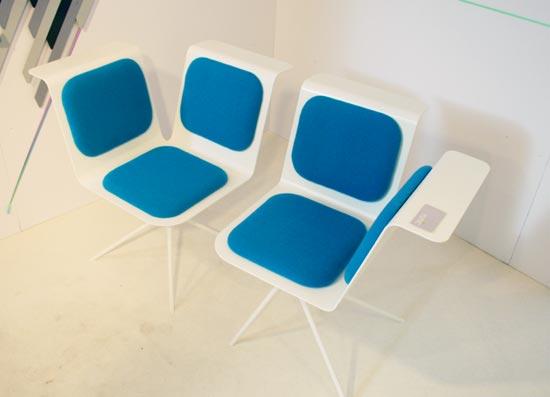 Asymmetrical Wing Chair by Yuniic