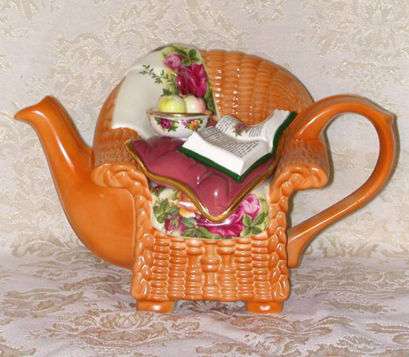 Cardew Royal Albert Wicker Chair Teapot