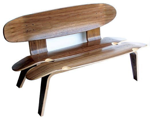 skateboard bench by skate study house chairblog eu