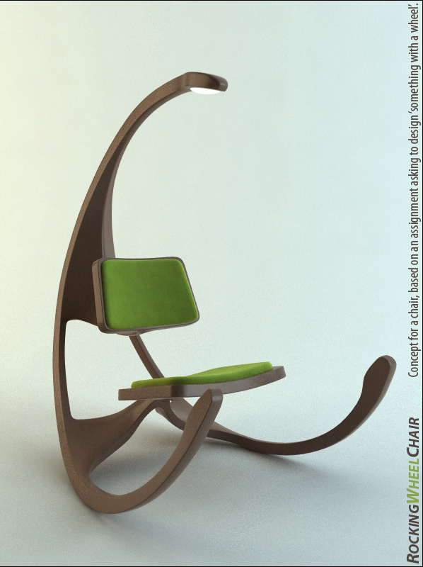 Rocking Chair With Wheels   Rocking Wheel Chair By Mathias Koehler  Chairblog Eu