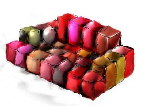 Superb Pixel Sofa By Ron Arad Chairblog Eu Bralicious Painted Fabric Chair Ideas Braliciousco
