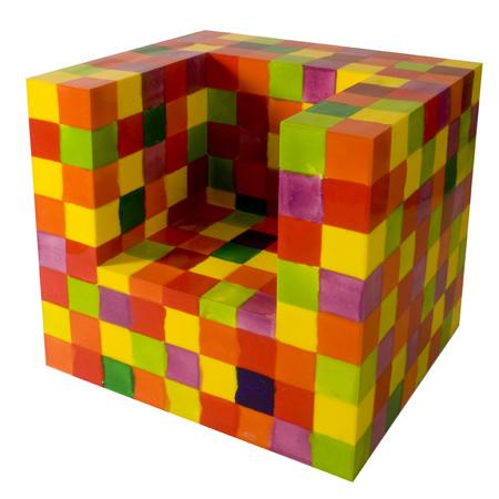 Multi Colored Silicone Chair by Alessandro Ciffo