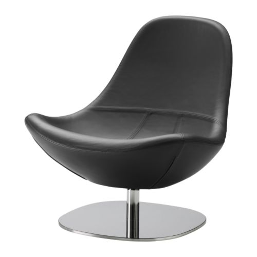 ikea tirup leather swivel chair