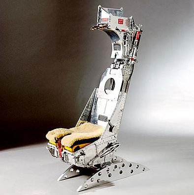 British fighter jet pilot ejector seat
