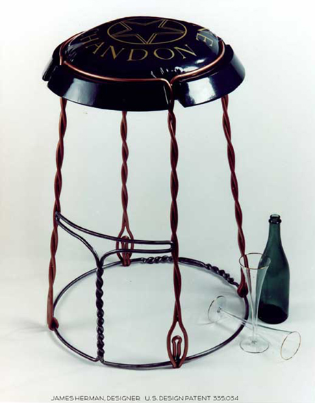 The Champagne Cork Capsule Stool
