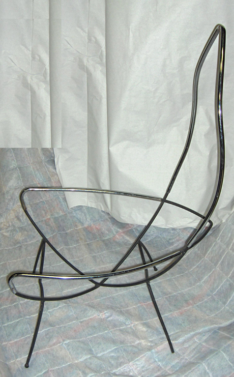 Unknown Steel Chair with Chrome Finish 2
