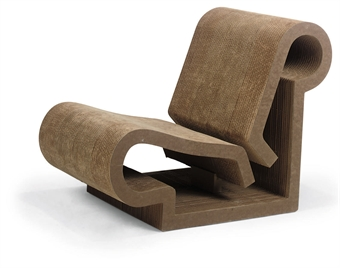 Contour Cardboard Chair By Frank Gehry At Christies Chairblogeu - Frank gehry furniture