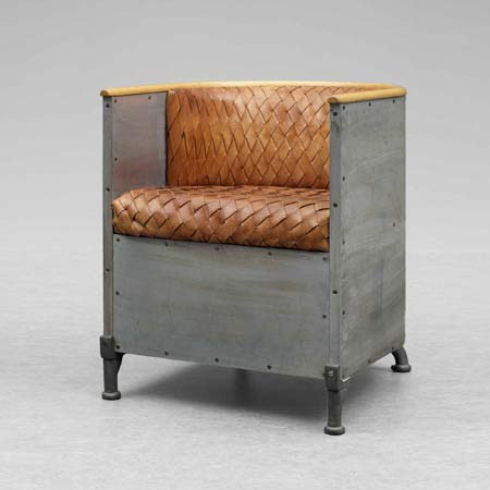 200 Sheet Steel Chair by Mats Theselius