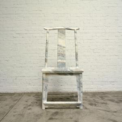 Traditional Chinese Chair in Marble by Ai Weiwei