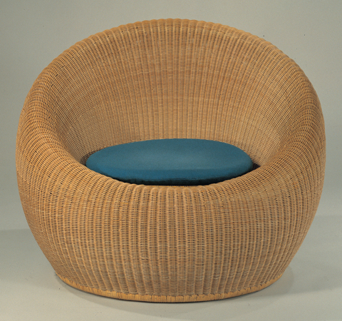 Round Rattan Chair C-315-E by Kenmochi Design Associates