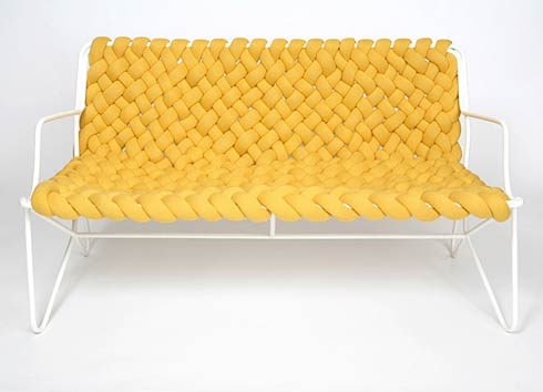 pleats-pleats sofa by Daniel Hedner