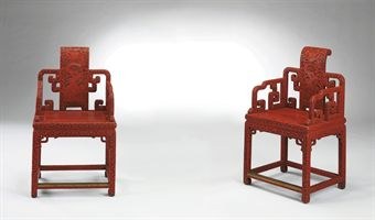 Chinese Imperial Dragon Armchairs