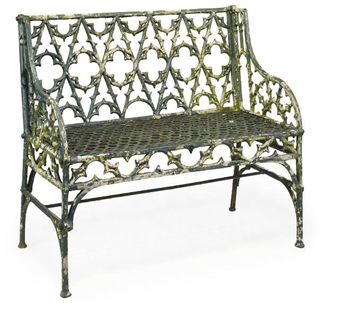 A French cast iron Garden Bench at Christies Chairblogeu