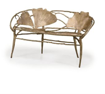 Ginko Banquette or Bench by Claude Lalanne