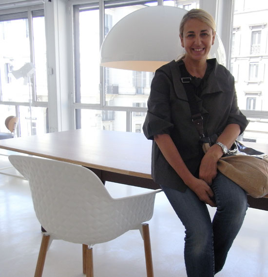 Patricia Urquiola wit a Lavenham Chassis Chair