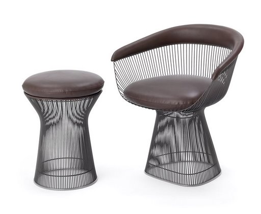 Platner Side Table and Stool by Knoll