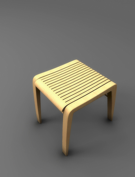 henrich zrubec wooden folding chair concept