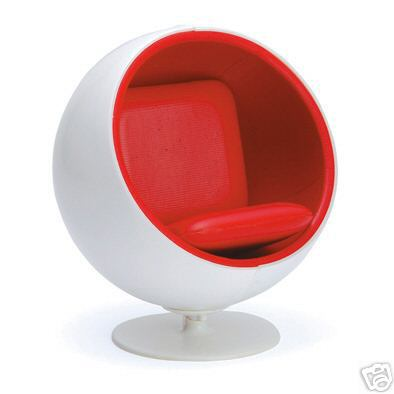 Miniature ball chair by eero aarnio on e bay - Ball chair by eero aarnio ...