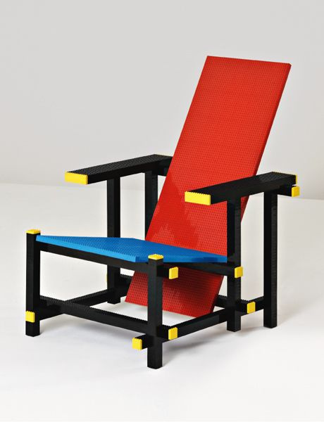 Red Blue Lego Chair by Mario Monale
