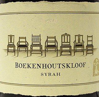boekenhoutskloof syrah wine label with chairs
