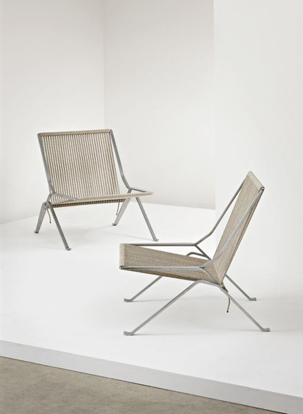 Element Lounge Chairs By POUL KJAERHOLM At Phillips De Pury