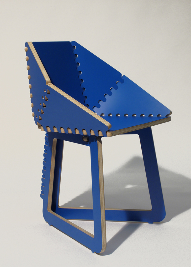 Panels Chair by Sebastien Wierinck