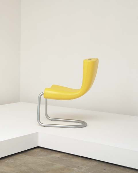 Yellow Komed Chair by Marc Newson