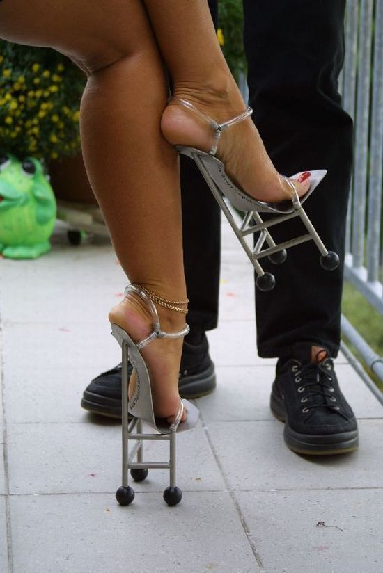 chair-high heels