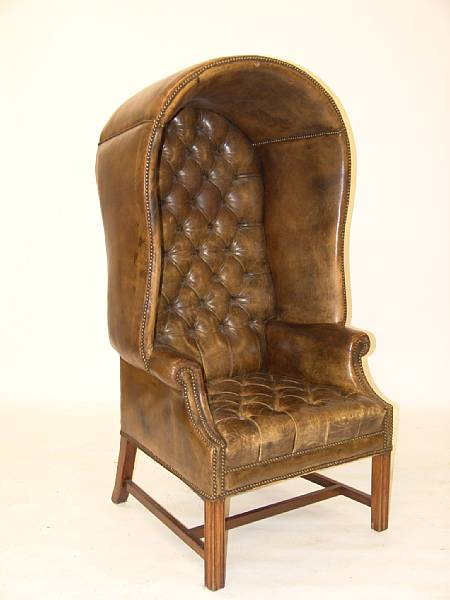 Leather Button Upholstered Porters Chair At Bonhams