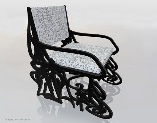 Grafitty Chair by Luis Alicandu