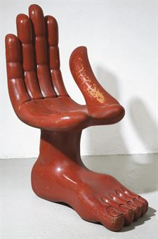 Hand Food Chair by Pedro Friedeberg