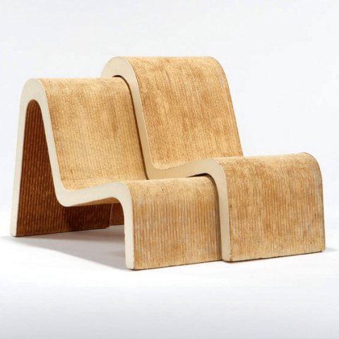 Pair Of Nested Chairs By Frank O. Gehry