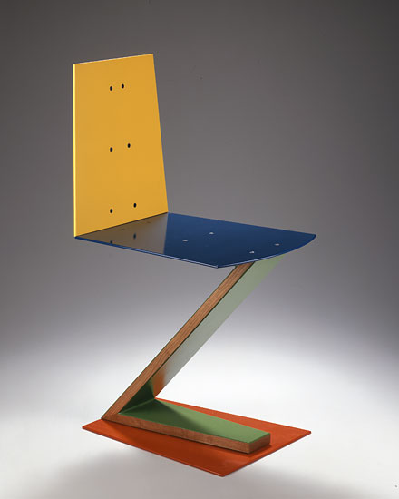 Rietveld Zig Zag Variation 12 - Chair 791 by Garry Knox Bennett