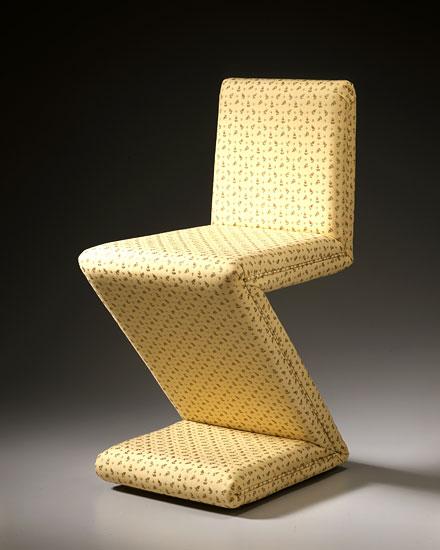 Rietveld Zig Zag Variation 16 - Upholstered by Garry Knox Bennett