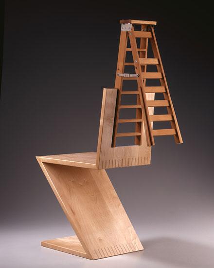 Rietveld Zig Zag Variation 2 - New Ladder Back by Garry Knox Bennett