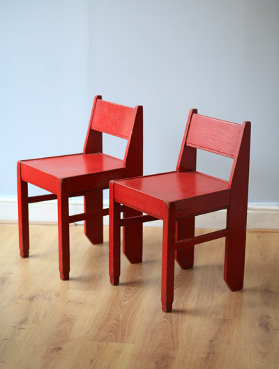 Two Red Chairs at Two Columbia Road Chairblogeu
