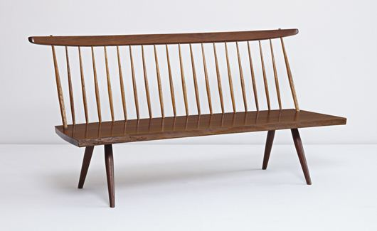 Slab Settee by George Nakashima