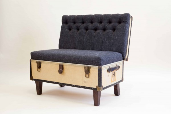 Suitcase Chair by Katie Thompson Yellow and Black