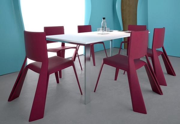 Red Origami Chair by Vasiliy Butenko