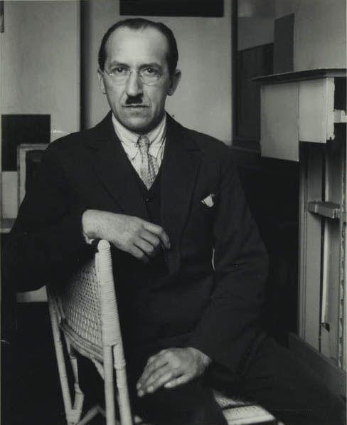 Piet Mondrian Seated in his Paris Studio