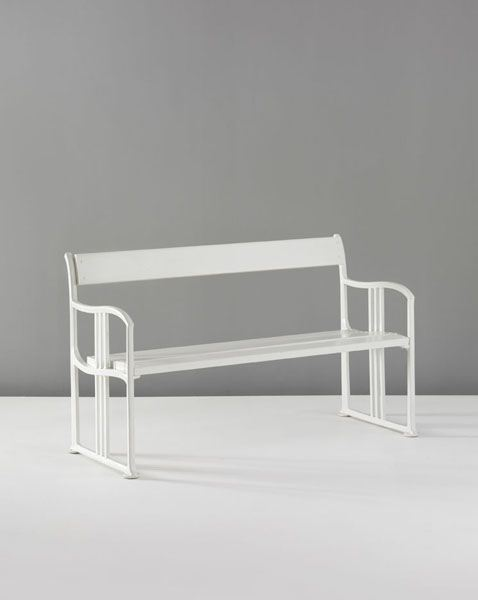 Steel Bench by Josef Hoffmann