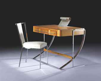 Desk with Chair by Rene Herbst