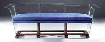 Glass Settee by René Coulon