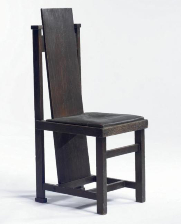 High Back Chair By Frank Lloyd Wright