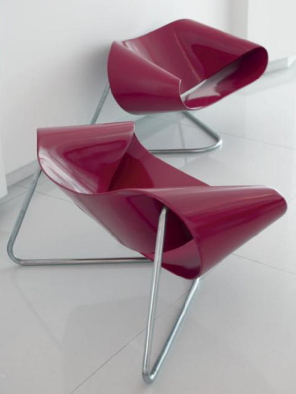 Ribbon chairs No. CL9 by Cesare Leonardi and Franca Stagi