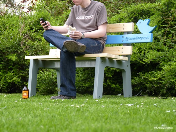 TweetingSeat by Chris McNicholl with man