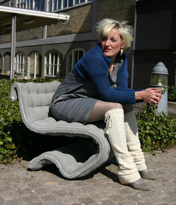 Concrete Cloth Chair by Anne-Mette Manelius